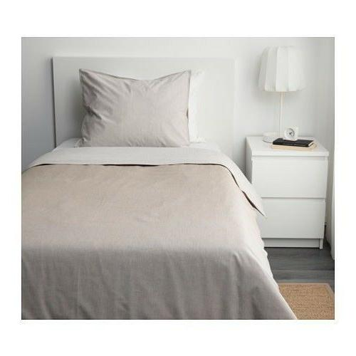 BLÅVINDA IKEA TWIN SIZE DUVET COVER AND PILLOWCASE BROWN ST