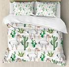 Ambesonne Cactus Duvet Cover Set King Size, Hot South Desert