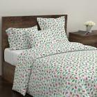 Christmas Xmas Lights Light Bulbs Winter Fall Sateen Duvet C