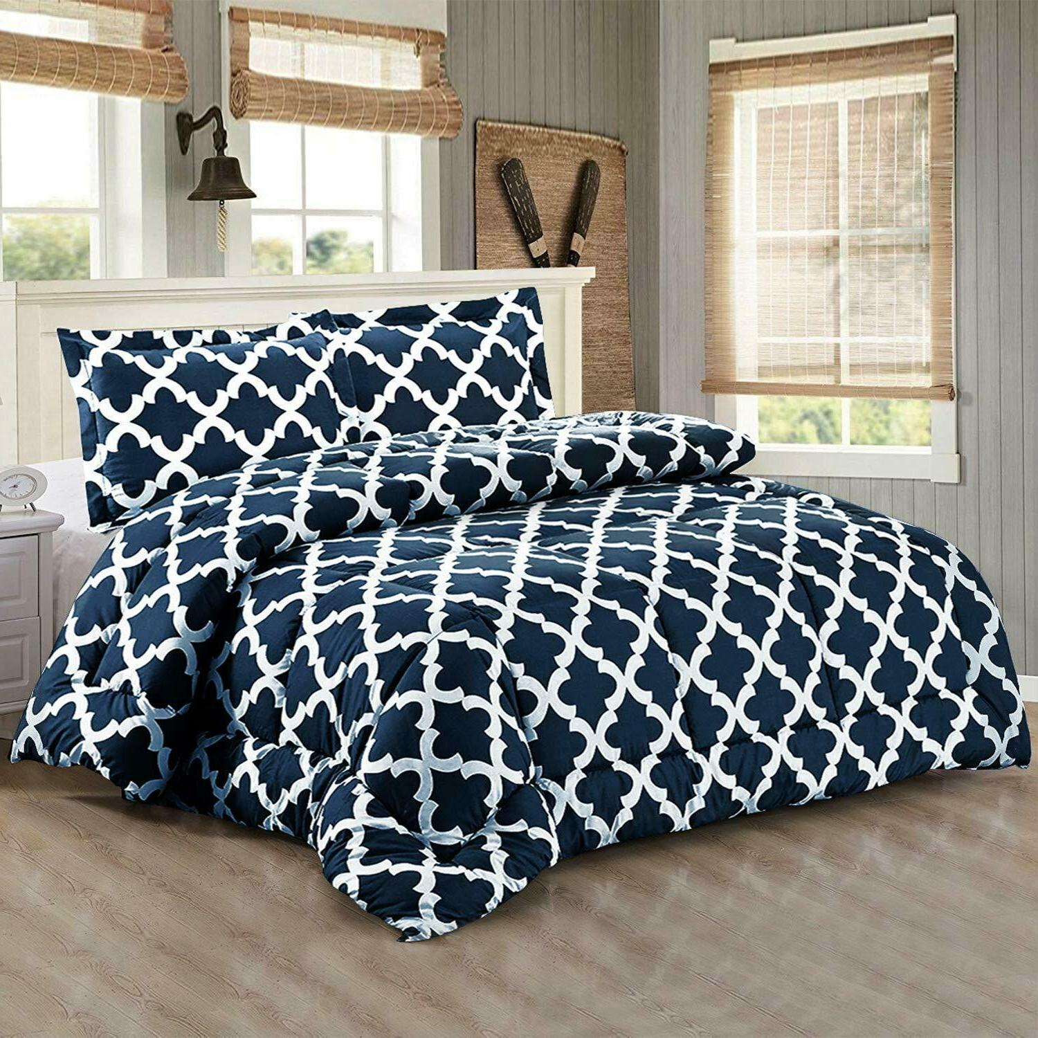 Printed Set with 2 Pillow Shams Microfiber