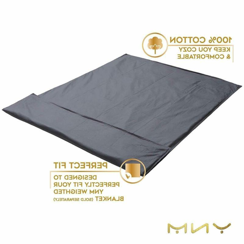 YnM Cotton Duvet Cover for Blankets - Dark