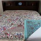 Handmade Cotton Floral Tree of Life Reversible Duvet Cover Q
