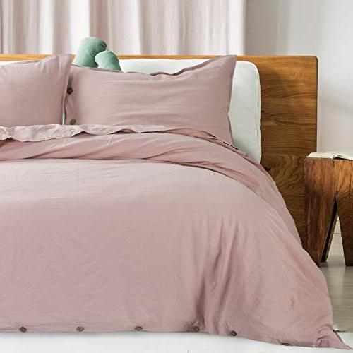 Bedsure 45% Cotton with - Full Size, Piece Soft Beding Comforter Cover Sets with