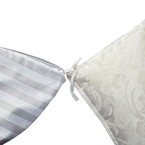 Delbou Set,Striped Duvet Tone Comforter Closure,Christmas Bedding Linen Quilt Cover