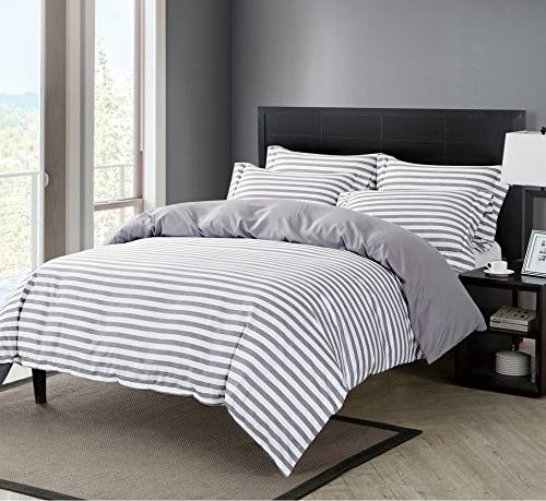 Delbou Tree Set,Striped Tone Closure,Christmas Set,Bed Quilt Cover with Grey
