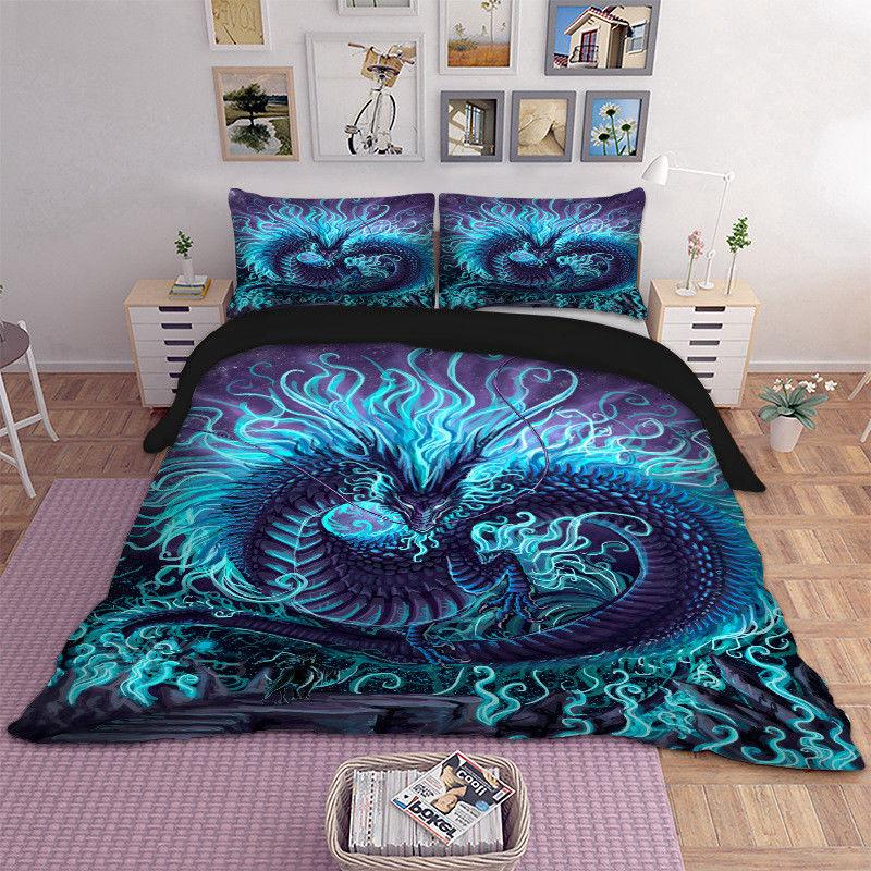 HD Dragon Cover Set Bedding Wongs Bedding