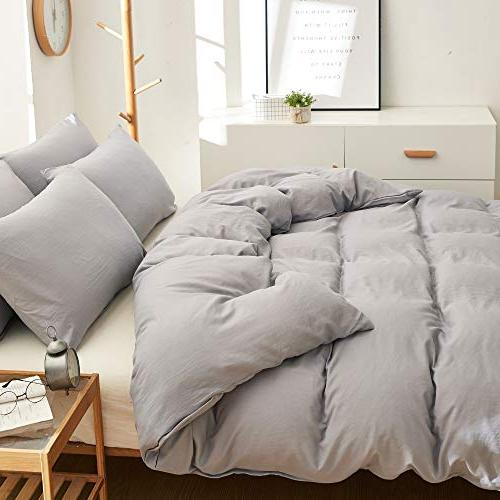 BOBforyou Cover King,Stone Washed Dyed Microfiber Cover Set,Ultra Soft Care,Simple