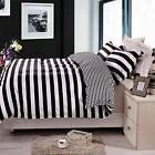 NTBAY 3 Pieces Reversible Stripped Microfiber Duvet Cover Se