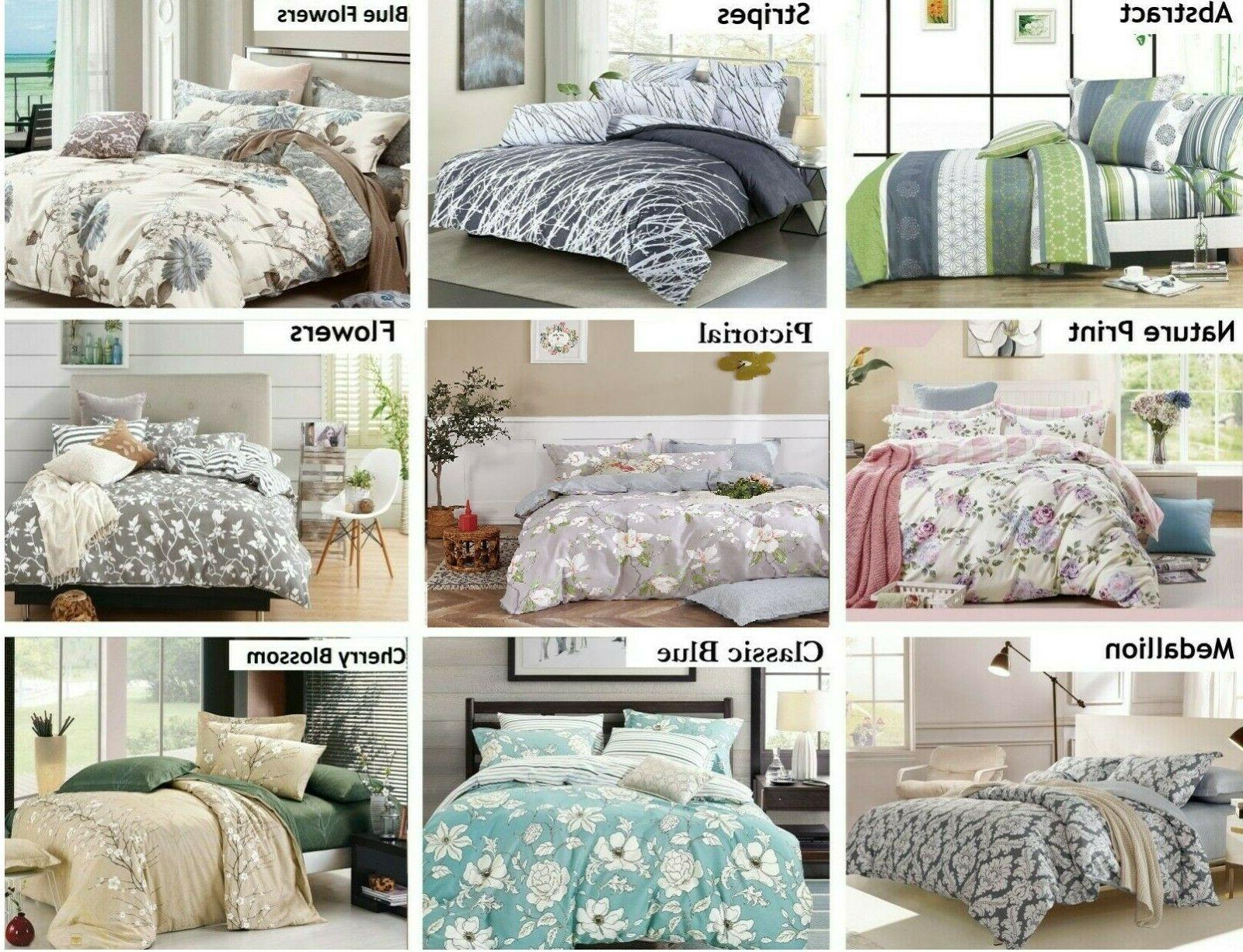 duvet cover set 100 percent cotton queen
