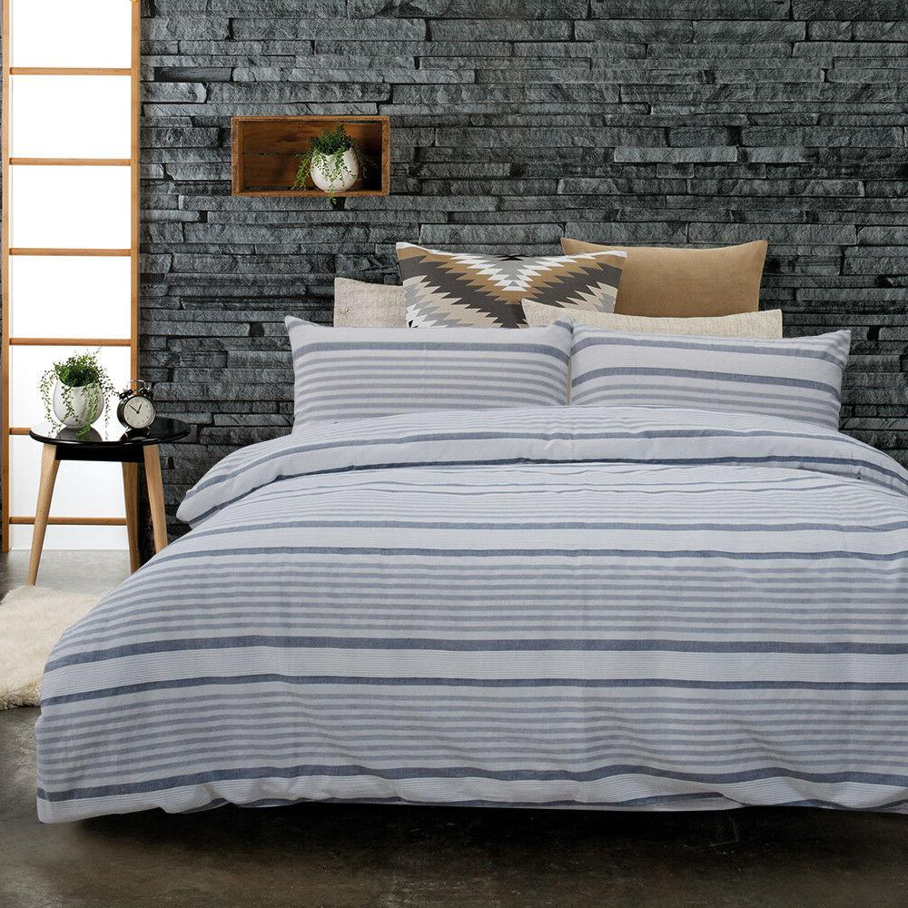 Merryfeel Duvet Set ,100% Woven Stripe Bedding