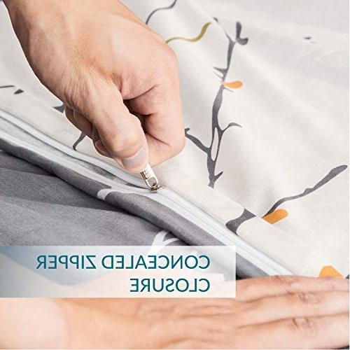 """Bedsure Printed Cover with Corner Branch Size 86""""x96"""" with Pillow"""