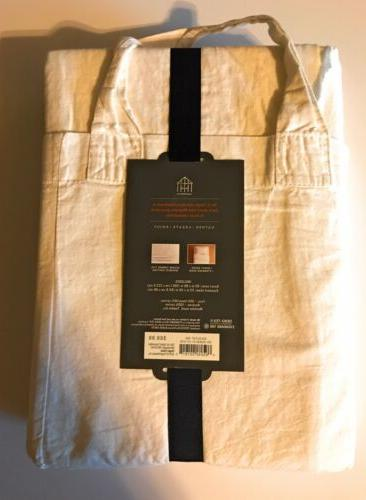 Duvet Set Linen - Hearth & Hand™ Magnolia Cream Cover/Sham