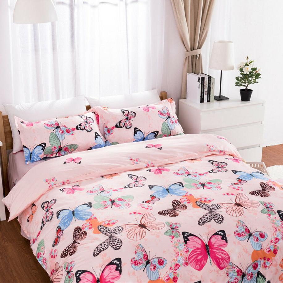 Butterfly Duvet Set Colorful Bedding Set Soft Size