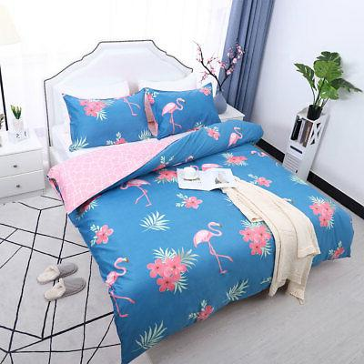 Floral Bedding Cover Comforter Single Queen King 4