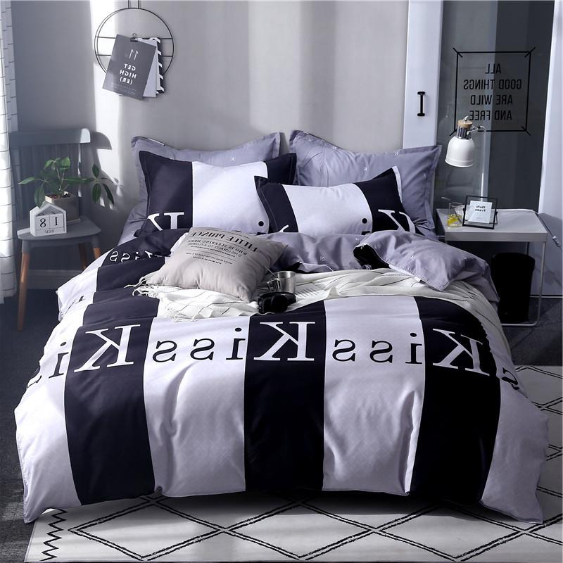 Sisher sets with Comforter Quilt <font><b>covers</b></font> Brief Nordic Queen linen Adult
