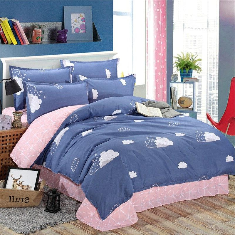 Sisher <font><b>Cover</b></font> sets with Pillowcase Comforter <font><b>covers</b></font> cotton Queen King Size