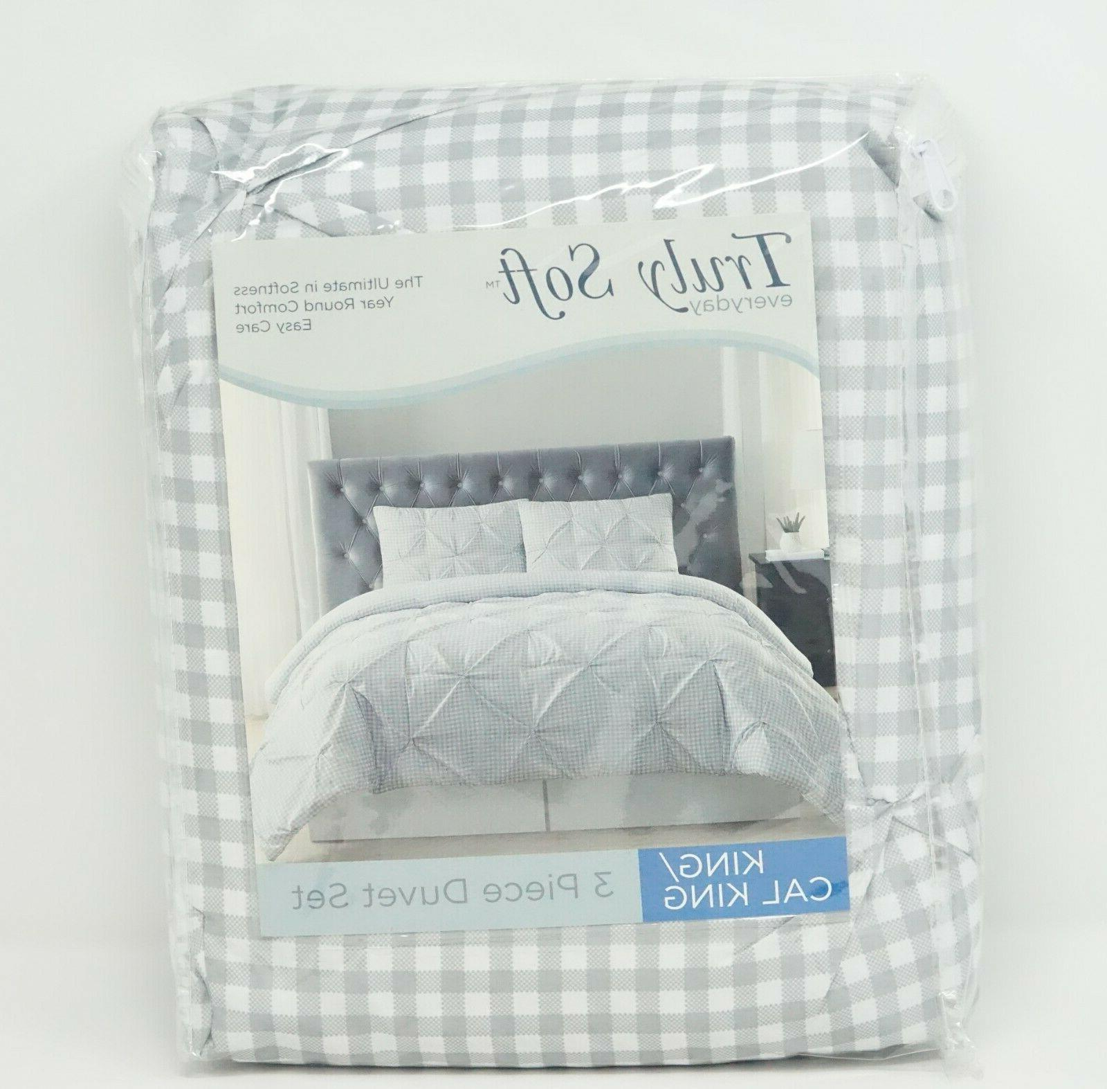Truly Soft Everyday Pinch Pleat 3 Duvet Set CAL