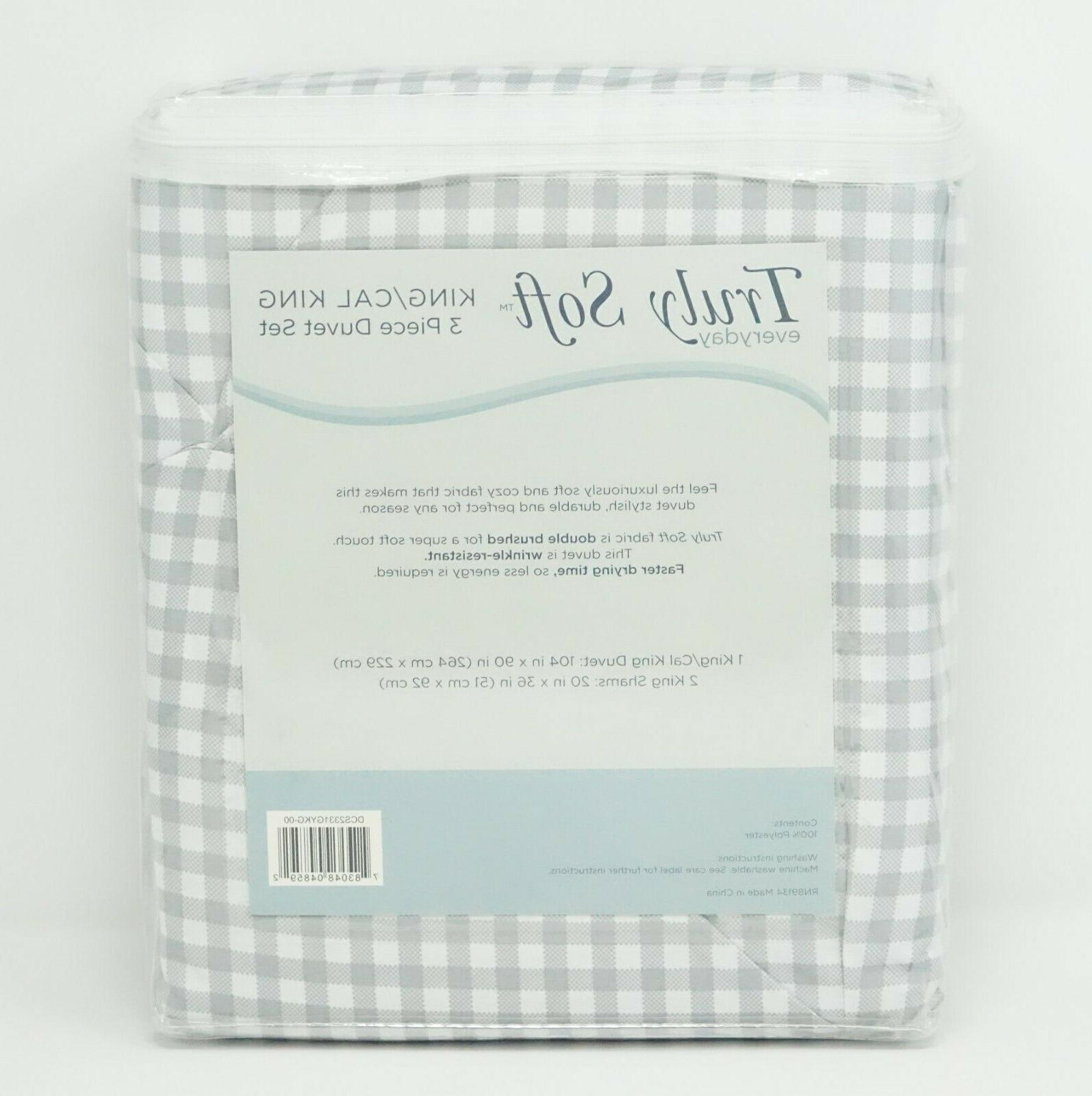 Truly Pinch Duvet Cover Set KING CAL KING