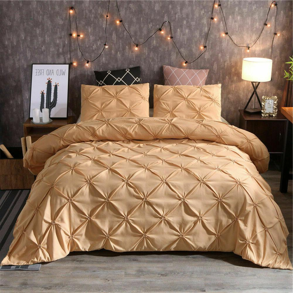 Gold Pillow Sham Pinch Pleat Polyester For