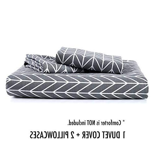 Wake In Cloud - Gray Cover Set, Zig Zag Pattern with
