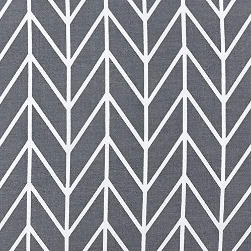 Wake Gray Chevron Cover Set, 100% Bedding, Zig Pattern Printed on Grey, with Zipper