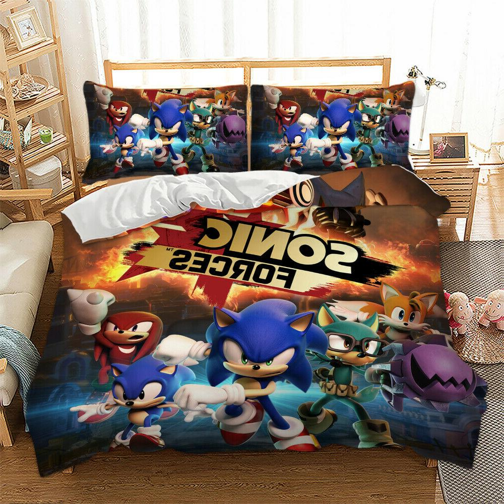 HD 2/3Pieces Duvet Cover Set All Size Bedding Set Sonic The