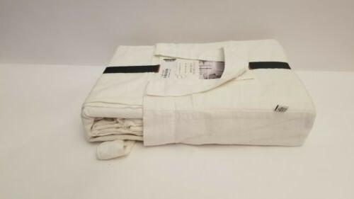 Hearth Hand With Magnolia Linen Blend Cover Set Twin, Sour Ivory