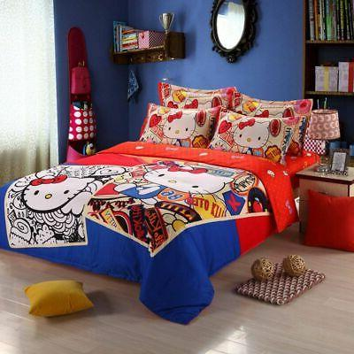 Hello Bedding Sets Duvet Bed Sheet Twin Full Queen Size