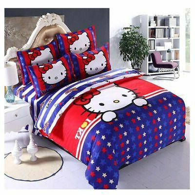Hello Kids Bedding Sets Duvet Cover Bed Sheet Twin Full Queen