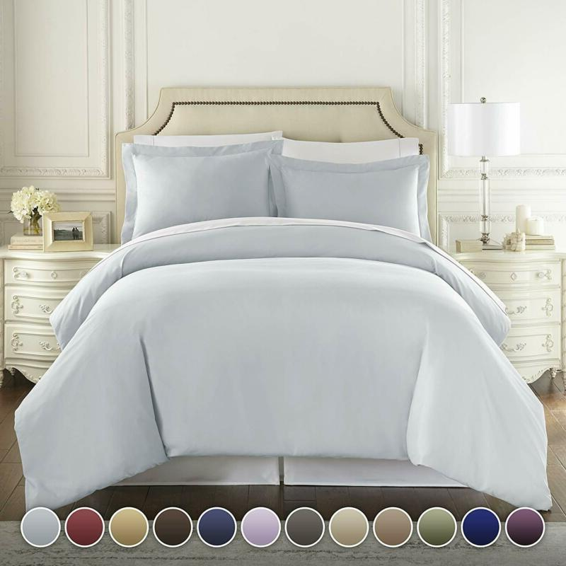 Hc Collection Hotel Luxury3Pc Duvet Cover Set-1500 Thread Co