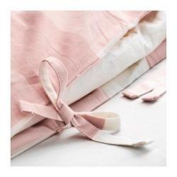 Ikea Cover Pillowcase Light Pink, White Queen