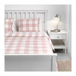 Ikea Ruta Cover Pillowcase Pink, White Full Queen
