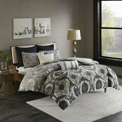 Cover with Pillow Shams, Grey, Full/Queen