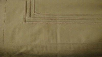 italy handmade 3 line embroidered cream 7p