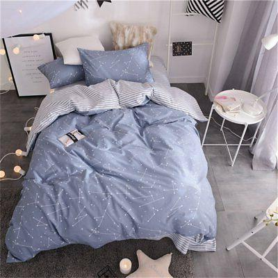 VM VOUGEMARKET Kids Twin Duvet Cover Set Blue, Lightweight C