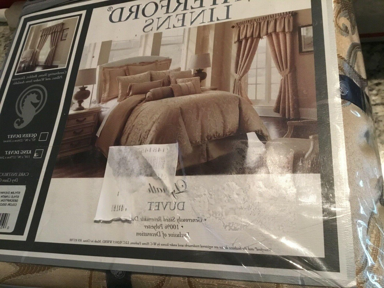 Waterford + 2 Lynath Gold Scroll New