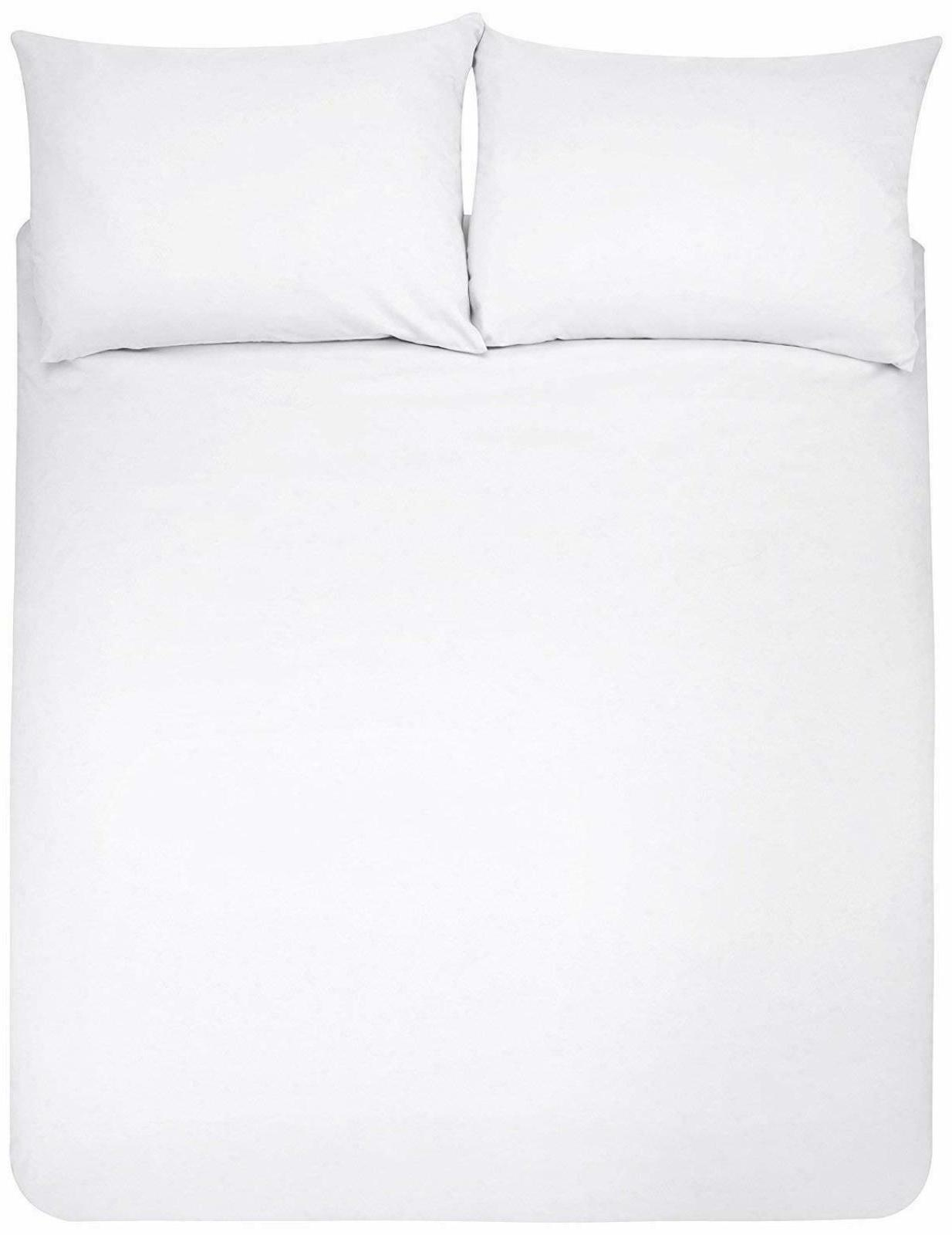 King Size Duvet Cover Set Zip Water Resistant Spill Protecto