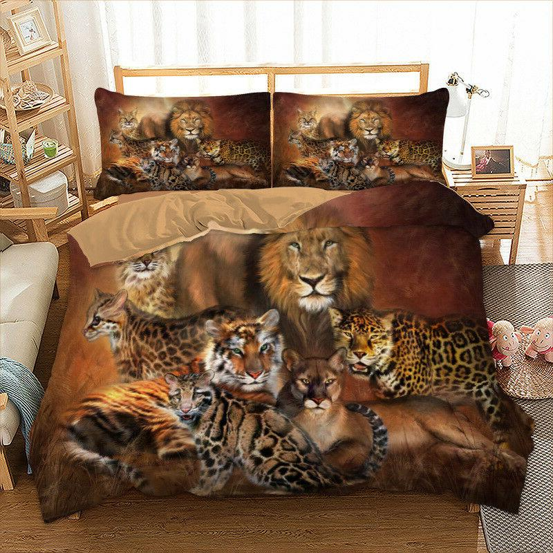 Animal Duvet Cover Set For Comforter Queen King Size Bedding