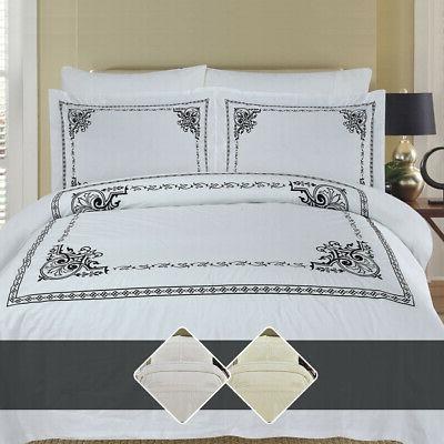 luxury athena 100 percent combed cotton embroidered