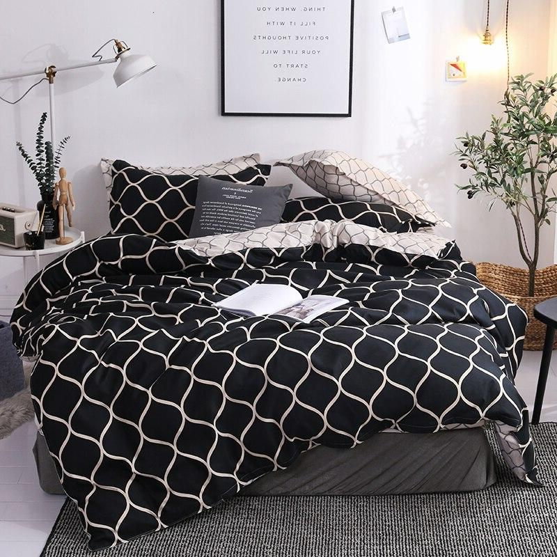 Luxury <font><b>Set</b></font> King Queen Bed Cotton