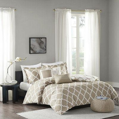 Madison Park Merritt 6 Piece Reversible Duvet Cover Set