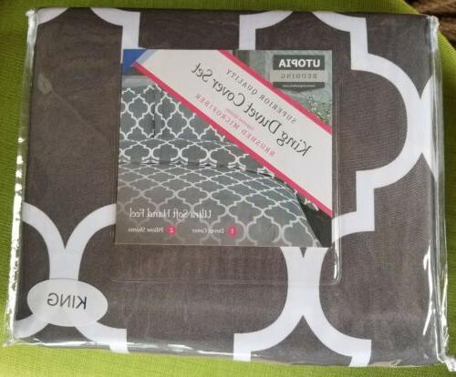 microfiber duvet cover printed with 2 pillow
