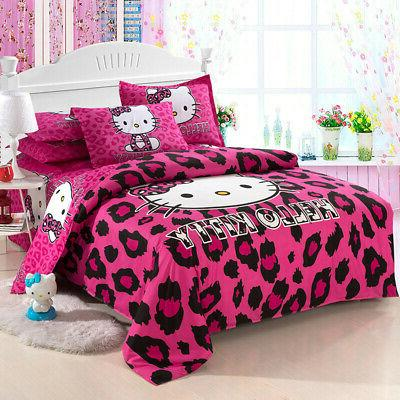 New Hello Sets kids duvet cover bed sheet twin full size