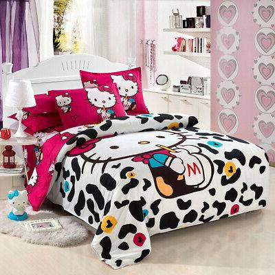 New Hello Sets kids duvet cover sheet twin full queen
