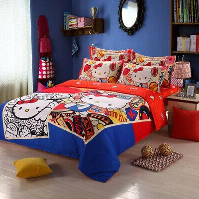 New Sets 4pc kids cover bed sheet full queen size