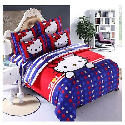 New Hello Sets duvet cover bed sheet twin full queen