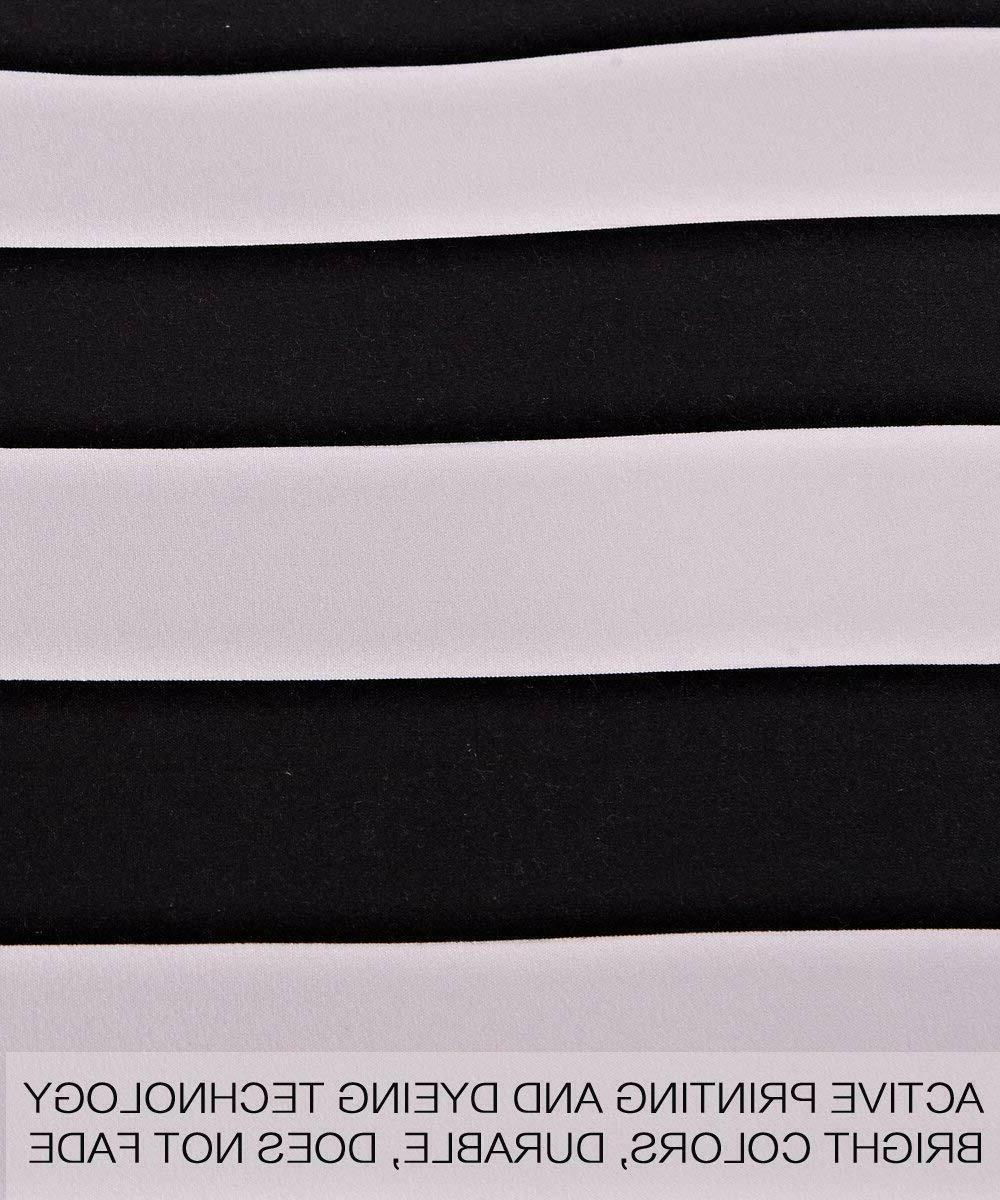 NTBAY 3 Pieces Cover Black and White NEW