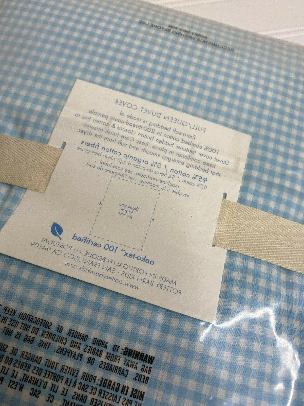 NWT Pottery GINGHAM DUVET FULL with tag