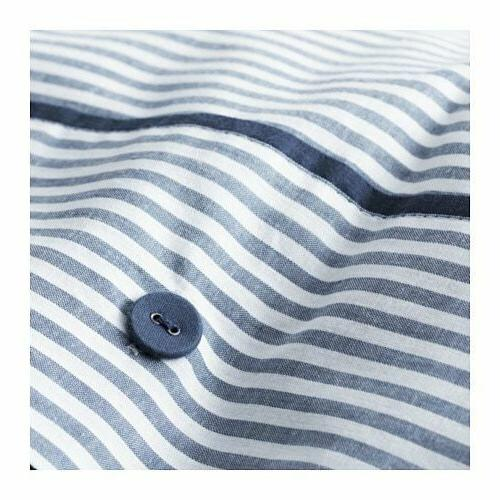 IKEA Nyponros Queen and Pillowcases Stripe