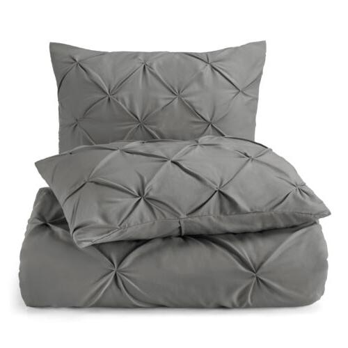 Pinch Pleated Cover Set Luxurious Quality Comforter